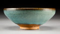 Asian:Chinese, A Chinese Jun-Type Earthenware Bowl, Song-Jin Dynasty. 2-3/4 incheshigh x 7 inches diameter (7.0 x 17.8 cm). PROVENANCE:...