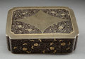 Asian:Chinese, A Japanese Komai-Style Mixed Metals Table Box, Meiji Period, circa1868-1912. 1-7/8 h x 6-3/8 w x 4-1/2 d inches (4.8 x 16.2...