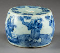 Asian:Chinese, A Chinese Blue and White Porcelain Incense Stand, Ming Dynasty,circa 1368-1644. 2-1/8 inches high x 3-1/8 inches diameter (...