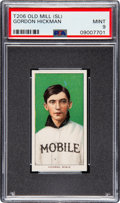 Baseball Cards:Singles (Pre-1930), 1909-11 T206 Old Mill Gordon Hickman PSA Mint 9 - Pop One, None Higher! ...