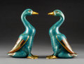 Asian:Chinese, A Pair of Chinese Cloisonné Duck Figures, Republic Period, circa1912-1949. 8-7/8 inches high (22.5 cm) (each). ... (Total: 2 Items)