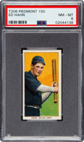 Baseball Cards:Singles (Pre-1930), 1909-11 T206 Piedmont 150 Ed Hahn PSA NM-MT 8 - Only One Higher. ...