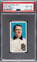 Baseball Cards:Singles (Pre-1930), 1909-11 T206 Old Mill Bill Hart (Little Rock) PSA NM-MT 8 - Pop One, Only One Higher. ...