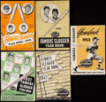 Baseball Collectibles:Publications, 1949-53 Famous Sluggers Yearbook Lot of 5. ...