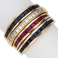 Estate Jewelry:Rings, Diamond, Ruby, Sapphire, Gold Ring. ...