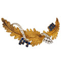 Estate Jewelry:Brooches - Pins, Diamond, Sapphire, Gold Brooch, Henry Dunay. ...
