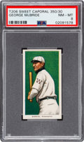 Baseball Cards:Singles (Pre-1930), 1909-11 T206 Sweet Caporal 350/30 George McBride PSA NM-MT 8 - Pop Two, None Higher! ...