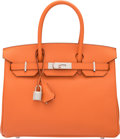 "Luxury Accessories:Bags, Hermes 30cm Mangue Epsom Leather Birkin Bag with PalladiumHardware. P Square, 2012. Condition: 1. 11.5""Width x 8..."