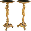 Furniture : Continental, A Pair of Italian Chinoiserie Painted and Giltwood Stands . 37-1/2 x 16-5/8 x 16-1/2 inches (95.3 x 42.2 x 41.9 cm) (each). ... (Total: 2 Items)