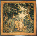Other, A Flemish Tapestry Depicting Amarillis with Nicando and Mirtillo from the Series Le Pastor Fido (The Faithfu...