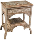 Furniture , A Moorish Inlaid Mother-of-Pearl and Bone Console Table . 31-1/2 x 28 x 16-1/4 inches (80.0 x 71.1 x 41.3 cm). ...