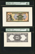 Canadian Currency, Hamilton, ON-Bank of Hamilton $25 1.3.1922 Ch. #345-22-06FP and#345-22-06BP Front and Back Proofs.. ... (Total: 2 ...