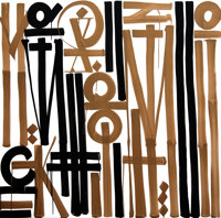 He Does it His Way By RETNA Acrylic on Canvas (American, b. 1979)