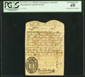 Colonial Notes:Massachusetts, Massachusetts November 21, 1708 40s Contemporary Counterfeit PCGSExtremely Fine 40.. ...