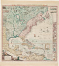 Books:Maps & Atlases, Henry Popple. A Map of the British Empire in America. With the French and Spanish settlements adjacent thereunto....