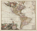 Books:Maps & Atlases, Peter Schenk and A. F. Zürner. Americæ tam Septentrionalis quam Meridionalis in Mappa Geographica Delineatio. [Amste...