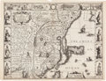 Books:Maps & Atlases, John Speed. The Kingdome of China. Newly augmented by I. S. London: To be sold... by G. Humble, 1626. Map of Eas...