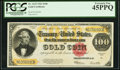 Large Size:Gold Certificates, Fr. 1215 $100 1922 Gold Certificate PCGS Extremely Fine 45PPQ.. ...