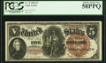 Large Size:Legal Tender Notes, Fr. 70 $5 1880 Legal Tender PCGS Choice About New 58PPQ.. ...