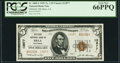 National Bank Notes:California, Brea, CA - $5 1929 Ty. 2 Oilfields NB Ch. # 13877 PCGS Gem New 66PPQ.. ...