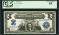 Large Size:Silver Certificates, Fr. 258 $2 1899 Silver Certificate PCGS Choice About New 55.. ...