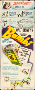 "Movie Posters:Animation, Bambi (RKO, 1942). Insert (14"" X 36""). Animation.. ..."