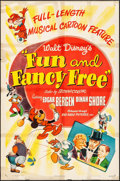 """Movie Posters:Animation, Fun and Fancy Free (RKO, 1947). Folded, Fine-. One Sheet (27"""" X 41""""). Animation.. ..."""