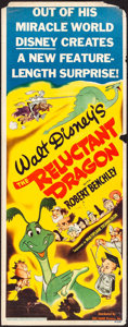"Movie Posters:Animation, The Reluctant Dragon (RKO, 1941). Insert (14"" X 36"") Glenn Cravath Artwork. Animation.. ..."