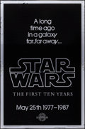 Movie Posters:Science Fiction, Star Wars: The First Ten Years (Killian Enterprises R-1987).Rolled, Very Fine+. 10th Anniversary Silver Mylar One Sh...