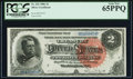 Large Size:Silver Certificates, Fr. 242 $2 1886 Silver Certificate PCGS Gem New 65PPQ.. ...