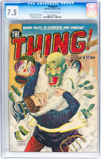 The Thing! #3 (Charlton, 1952) CGC VF- 7.5 Cream to off-white pages