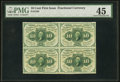 Fractional Currency:First Issue, Fr. 1242 10¢ First Issue Block of Four PMG Choice Extremely Fine 45.. ...