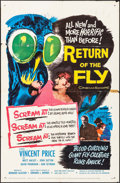 "Movie Posters:Science Fiction, Return of the Fly (20th Century Fox, 1959). One Sheet (27"" X 41""). Science Fiction.. ..."