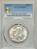 Walking Liberty Half Dollars, 1934-S 50C MS65 PCGS Secure....