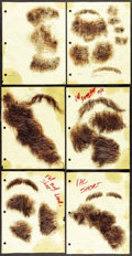 Movie Posters:Rock and Roll, Facial Hairpieces from The Doors (Tri-Star, 1991). Screen-Used Facial Appliances (8 Sets) (Human Hair on Netting, Various Di... (Total: 8 Items)