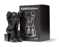 Fine Art - Sculpture, American:Contemporary (1950 to present), KAWS (b. 1974). Passing Through Companion (Black), 2013.Painted cast vinyl. 11-1/2 x 6-1/2 x 7-1/2 inches (29.2 x 16.5 ...