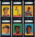Baseball Cards:Lots, 1957-59 Topps Baseball Collection (78) With Six Graded Cards. ...