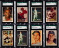 Baseball Cards:Lots, 1957 Topps Baseball Collection (69) With Eight SGC Graded Cards....
