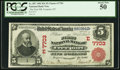 National Bank Notes:New York, Freeport, NY - $5 1902 Red Seal Fr. 587 The First NB Ch. # (E)7703. ...