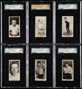"Boxing Cards:General, 1938 Cartledge Razor ""Famous Prize Fighters"" High Grade SGCComplete Set (50)...."