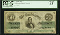 Confederate Notes:1861 Issues, T16 $50 1861 PF-17 Cr. 94 PCGS Very Fine 35.. ...