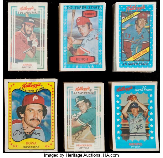 1975 1983 Kelloggs Baseball Complete Sets Lot Of 6
