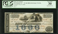 Obsoletes By State:Louisiana, New Orleans, LA- Bank of Louisiana $1,000 June 14, 1862 G32a PCGS Very Fine 30.. ...
