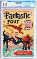 Silver Age (1956-1969):Superhero, Fantastic Four #4 (Marvel, 1962) CGC VF 8.0 Off-white to whitepages....
