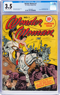 Wonder Woman #1 (DC, 1942) CGC VG- 3.5 Off-white to white pages