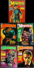 """Movie Posters:Horror, Famous Monsters of Filmland (Warren Publishing, 1973-74). Magazines (5) (Multiple Pages, 8.25"""" X 11""""). Horror.. ... (Total: 5 Items)"""