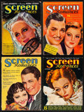 "Movie Posters:Miscellaneous, Screen Romances (Dell Publishing, 1933-1938). Overall: Fine/Very Fine. Magazines (4) (Multiple Pages, 8.5"" X 11.5"") F. Earl ... (Total: 4 Items)"