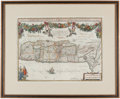 Books:Maps & Atlases, Christian van Adrichem. Situs Terrae Promissionis. Amsterdam: [circa 1630]. Double sheet engraved map of the Hol...