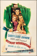 "Movie Posters:Comedy, Without Reservations (RKO, 1946). One Sheet (27"" X 41""). Comedy.. ..."