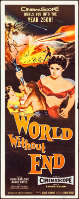 """World Without End (Allied Artists, 1956). Insert (14"""" X 36""""). Science Fiction"""